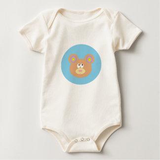 Pequeña camiseta linda del niño del oso de peluche