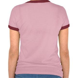 pequeña camiseta rosada de las señoras del cerdo playeras