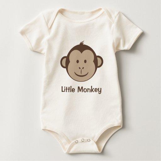 Pequeña cara del mono body de bebé