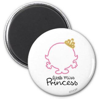Pequeña cara en blanco de la Srta. princesa el | Imán Redondo 5 Cm