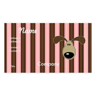 Pequeña cara linda del perrito tarjeta personal