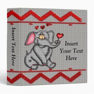 Pequeña carpeta de Avery del elefante
