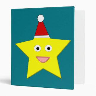 Pequeña carpeta feliz de la estrella del navidad