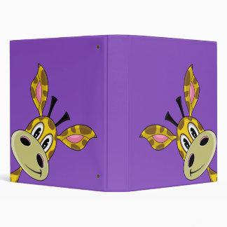 Pequeña carpeta linda de la púrpura de la jirafa