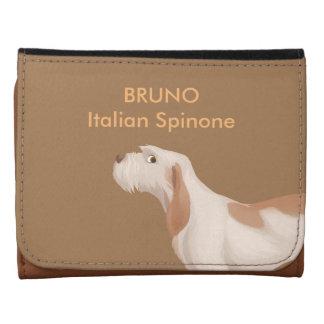 Pequeña cartera de cuero de Spinone