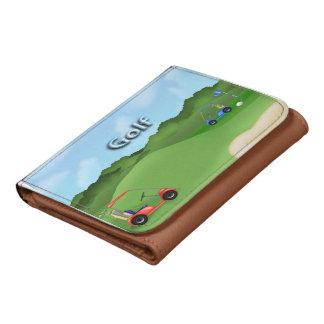 Pequeña cartera Golfing de la piel sintética