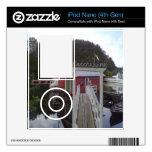 pequeña casa y mar calcomanía para iPod nano 4G