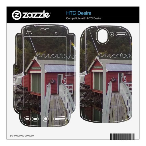 pequeña casa y mar calcomanías para el HTC desire