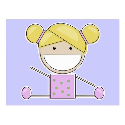Pequeña Chica-Forma del gimnasta encima de la post