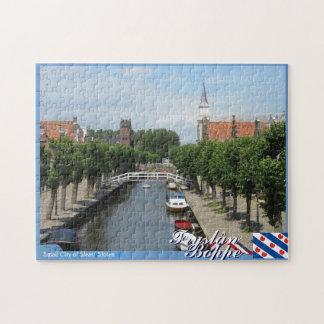 Pequeña ciudad de Fryslân Boppe de Sleat/Sloten Rompecabezas