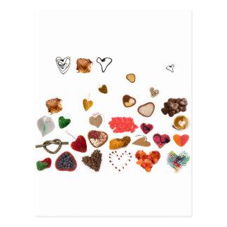 pequeña colección de los corazones postal