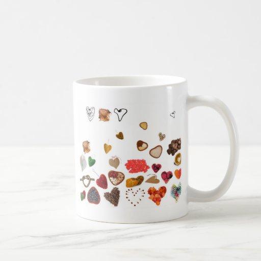 pequeña colección de los corazones tazas de café