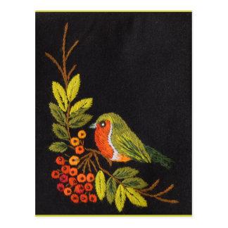 Pequeña colección del pájaro tarjeta postal