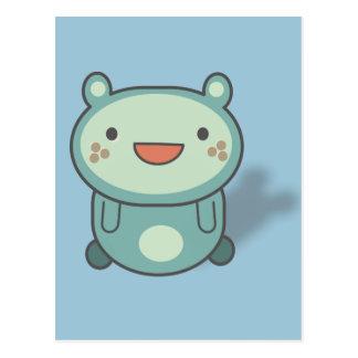 Pequeña criatura linda del oso tarjetas postales