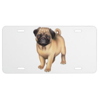 Pequeña cubierta amistosa de la placa del perro de placa de matrícula