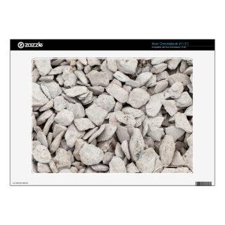 Pequeña cubierta de piedra blanca calcomanía para acer chromebook