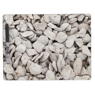Pequeña cubierta de piedra blanca tableros blancos