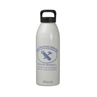 Pequeña empresa sábado - azul del hardware botella de agua reutilizable