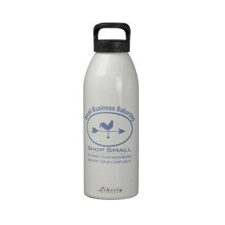 Pequeña empresa sábado - gallo azul botella de beber