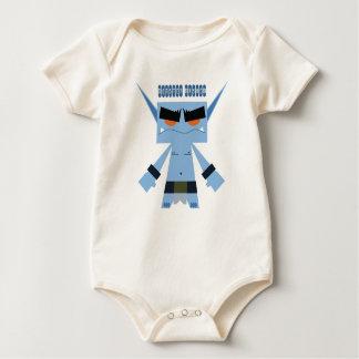 pequeña enredadera azul del bebé del duende mamelucos de bebé
