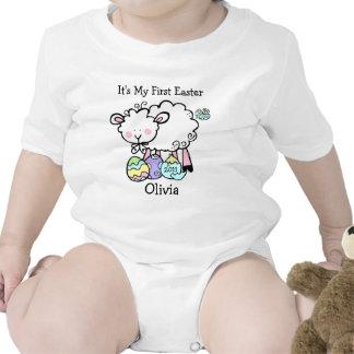 Pequeña enredadera del niño de Pascua del cordero Trajes De Bebé