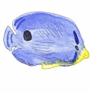 Pequeña escultura azul de la foto de los pescados escultura fotográfica