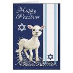 Pequeña estrella y Tallit del cordero del Passover Tarjeta De Felicitación