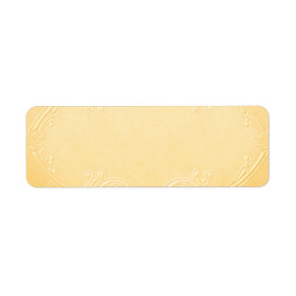 Pequeña etiqueta amarilla bonita del boticario etiqueta de remite
