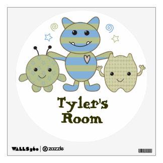 Pequeña etiqueta de la pared del cuarto de niños d