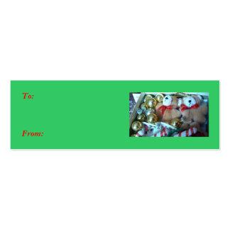 Pequeña etiqueta del regalo de los peluches tarjetas de visita mini