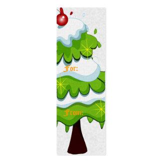 Pequeña etiqueta del regalo del árbol de navidad tarjetas de visita mini