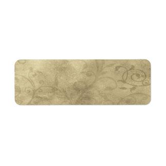 Pequeña etiqueta elegante del boticario del papiro etiquetas de remite