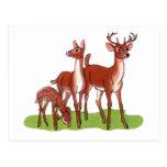 Pequeña familia de los ciervos postales