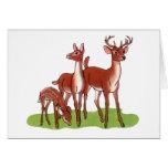 Pequeña familia de los ciervos tarjeta