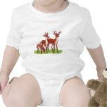 Pequeña familia de los ciervos traje de bebé