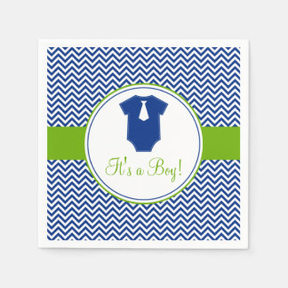 Pequeña fiesta de bienvenida al bebé del verde servilleta de papel