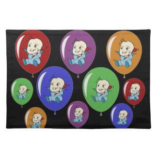 Pequeña fiesta de bienvenida al bebé Placemats del Mantel Individual