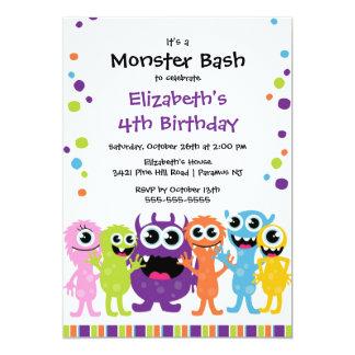 Pequeña fiesta de cumpleaños LINDA del golpe del Invitación 12,7 X 17,8 Cm