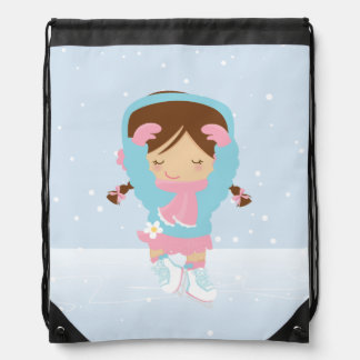 Pequeña figura patinador linda mochilas