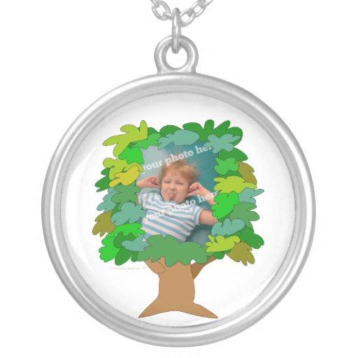 Pequeña foto del personalizado del mono del árbol  colgante personalizado