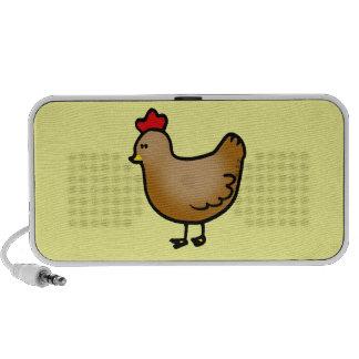 Pequeña gallina linda sistema de altavoz