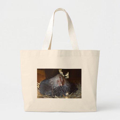 Pequeña gallina pequena japonesa bolsa tela grande