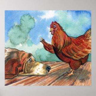 Pequeña gallina roja poster