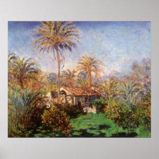 Pequeña granja de Claude Monet, arte del país del Póster