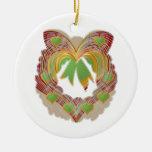 PEQUEÑA guirnalda de los corazones del verde esmer Ornamentos Para Reyes Magos
