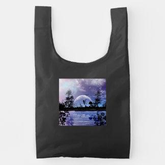 Pequeña hada hermosa bolsa reutilizable