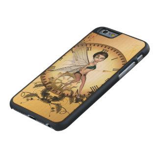 Pequeña hada linda del steampunk funda de iPhone 6 carved® de arce