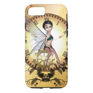 Pequeña hada linda del steampunk funda iPhone 7