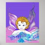 Pequeña hada púrpura poster
