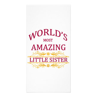 Pequeña hermana asombrosa tarjetas fotográficas personalizadas